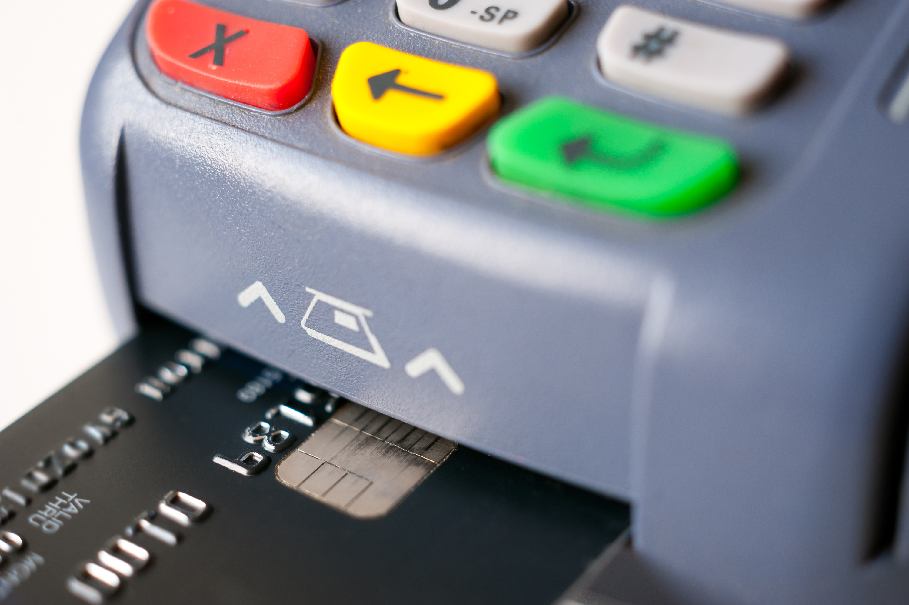 EMV chip being used for purchase